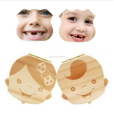 New Wooden Tooth Storage Box Baby Save Milk Teeth Great Creative Gifts EN24H 04
