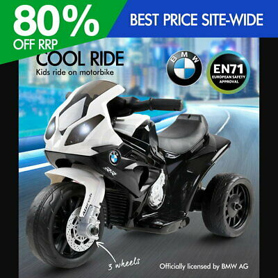 BMW Kids Ride-On Motorcycle Motorbike Car Bike Electric Toy Battery Police Black