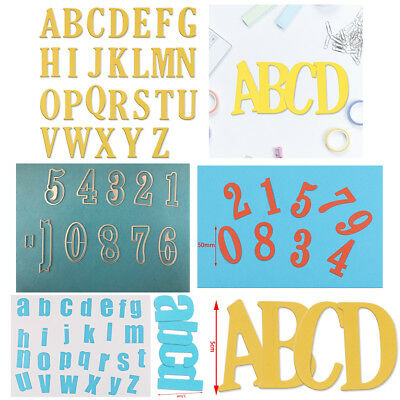 Alphabet Letter Number 0-9/a-z/A-Z Cutting Dies Stencils Scrapbooking Crafts DIY