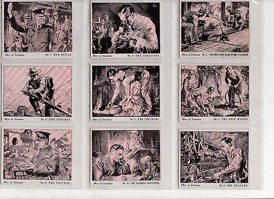 STAMINA Trousers Men of Stamina set of 27 trading cards 1950s? workers (6 scans)