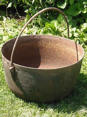 Cast Iron Kettle Cauldron Garden Decor Planter 3 Leg Pot