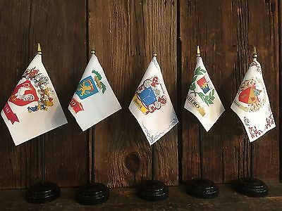 "Custom Family Crest ~ Coat Of Arms ~ Mini Desk Flag 4"" x 6""   Heraldry"