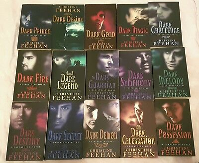 15 x Dark Series Carpathian Books by Christine Feehan (Paperback)