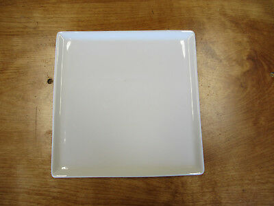"""Food Network CREMA White Salad Plate 8 3/4"""" Square        13 available"""
