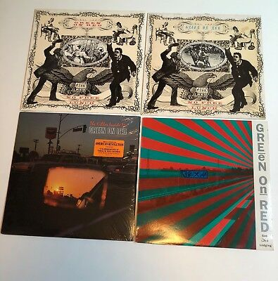 GREEN ON RED Lot of 4 LP orig. U.S. pressings & one UK import Alt. Country Rock