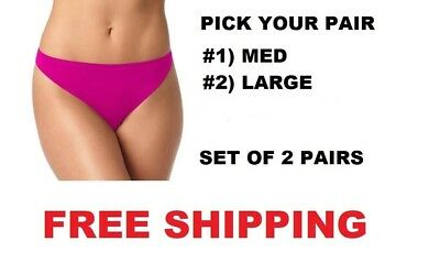 Warner's No Pinching, No Problem Seamless Thong Pick #1-Med Or #2) Large  New