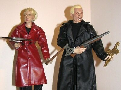 """Sideshow Buffy Graduation Day and Vampire Spike 12"""" Action Figures BTVS 1:6"""