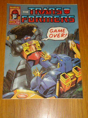 Transformers British Weekly #136 Marvel Uk Comic 1987