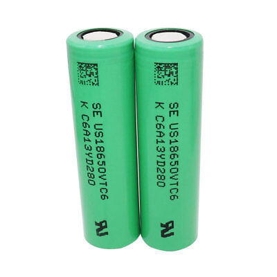 2X 18650 Batterie VTC6 3000mAh High Drain 3.7V Li-ion Rechargeable Battery NEW