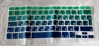 Silicone Rubber Apple Macbook Air Pro UK/Russian Keyboard Skin Cover Overlay