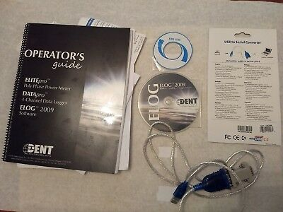 Dent Instruments ELOG software (2009) & cable