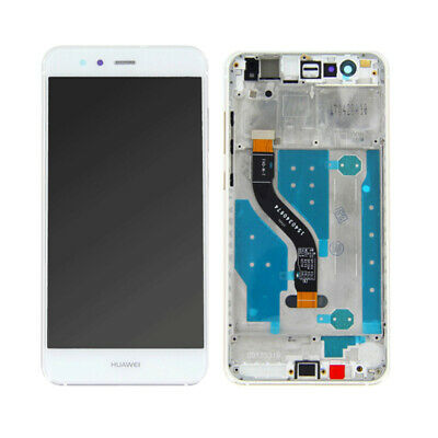 Touch Screen Vetro + Display Lcd + Frame Per Huawei P10 Lite Was-Lx1A Bianco