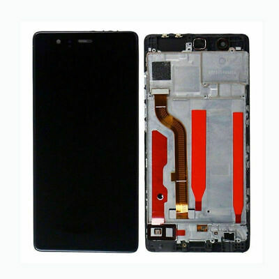 Touch Screen Vetro + Display Lcd + Frame Per Huawei P9 Eva-L09 Nero