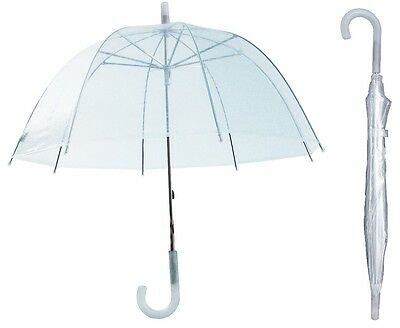 "32"" Arc Children Kid Clear Dome Umbrella - RainStoppers Rain Bubble"