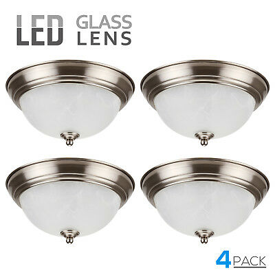 Leonlite Led Glass Flush Mount Ceiling Light Etl Energy