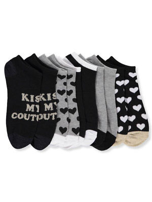 Juicy Couture Girls' 5-Pack Low Cut Socks (Sizes 6 - 11)