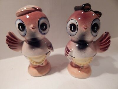 Vintage Anthropomorphic Birds Salt And Pepper Shakers