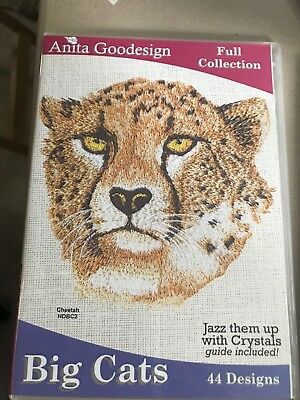 Anita Goodesign Embroidery Designs - Big Cats Full Collection
