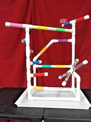 """Small Climber 3/4"""" PVC Parrot Perch  Stand  Play Gym  Pan **FREE SHIPPING!*"""