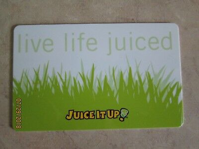 $10.00 GIFT CARD Juice It Up Fruit Smoothie Raw Juice Drinks CA OR TX NM