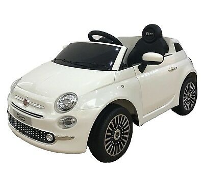Kids Electric Ride on Fiat 500 Car12v With Parental remote and LED Lights