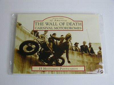 Wall Of Death Postcard Pack ( 15 Historic Postcards )