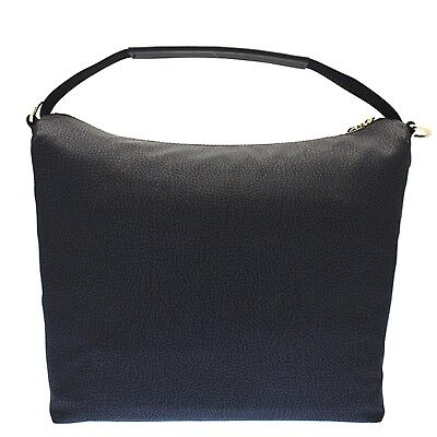 7d30a7345ac9 BORBONESE Woman s Hobo bag in Fabric and Nylon BLACK Continuos Collection