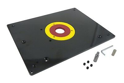"""Router Table Mounting Base Plate 3/8"""" Thick Phenolic 12"""" x 9"""" Taytools 469089"""