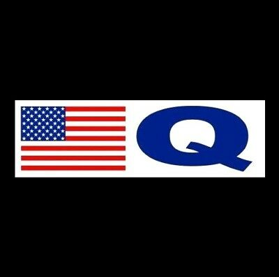 "New ""Q"" QAnon BUMPER STICKER Pro Donald Trump MAGA patriot decal 2020 Q Anon NRA"