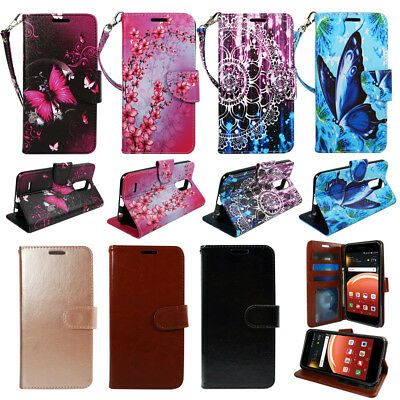 For LG Phoenix Plus (ATT)| Harmony 2|, Wallet PU Leather Flip Case Cover Stand