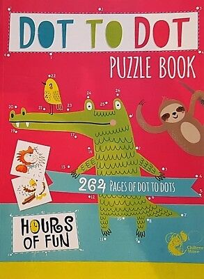 CHILDREN KIDS GIANT 264 PAGES DOT TO DOT book,, 20cm x 27.5cm ,days of fun,