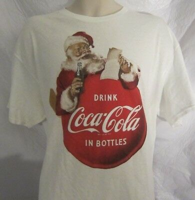 Coca Cola Santa Reading his List - Drink Coca-Cola Coke T-Shirt Vintage Style