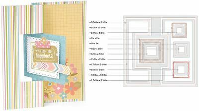 Sizzix Thin Framelits Die Set ~Square Flip-Its #2 Card Code 559175 12Pk