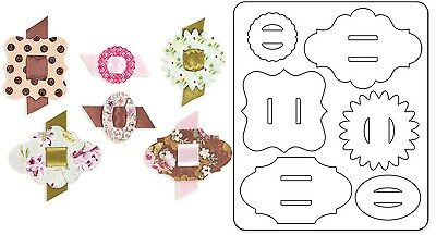 Sizzix Cut Emboss & Stencil Thin Die ~Buckles Code 658333 (Special Price Was $26