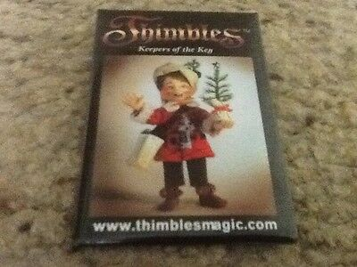 Annalee Thimbles Doll Christmas Pin In New Condition