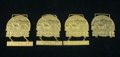 Vintage 1920s BPO DOES Officer Medallions 3 with Designations 1 Blank