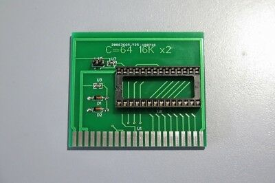 16k x2 rom cartridge for the Commodore 64, Compatible with 16k rom images. NEW.