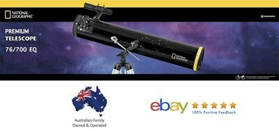 National Geographic Bresser 76/700 EQ Newtonian Telescope - Great For Beginners