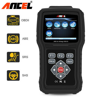 ANCEL AD610 Elite OBD2 Car ABS Airbag SRS SAS Engine Reset Diagnostic Scann Tool
