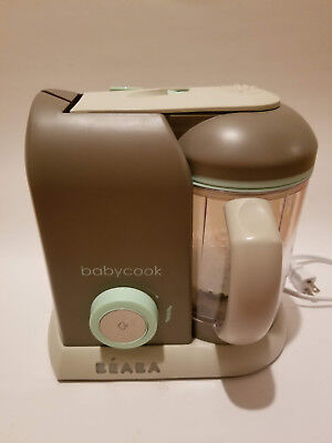 Beaba Babycook Pro Baby Food Maker and Steamer - Latte/Mint WORKS