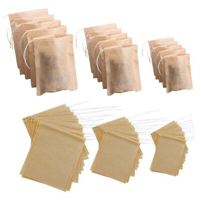 Natural Empty Teabags String Disposable Tea Infuser Loose Tea Bag 100Pcs