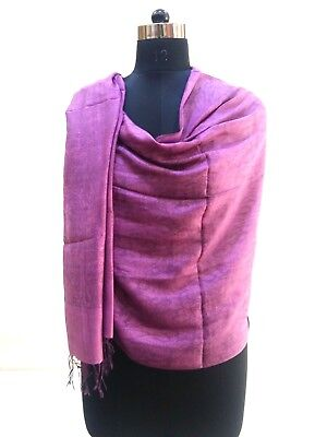 Indian  Vintage  Fine Design Women  Silk Feeling Neck Wrap Nice  Soft & Smooth