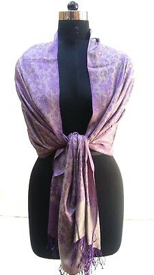 Fine Design Silk Feeling  Women Neck Wrap Nice Indian Vintage  Soft &  Smooth
