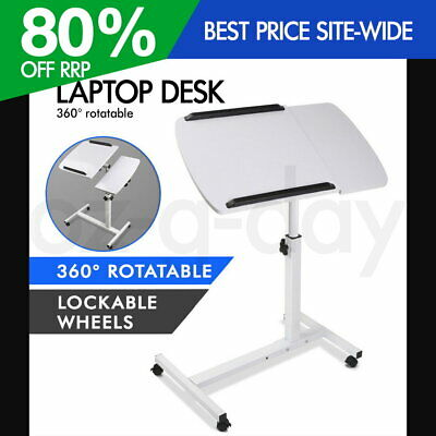 Mobile Laptop Desk Adjustable Height Notebook Computer iPad PC Stand Table WH