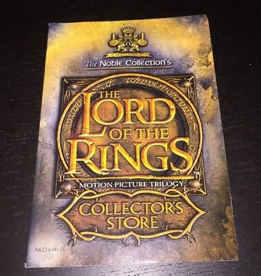Lord of the Rings Collectors Store Vintage Booklet from 2003 (30 PAGES)