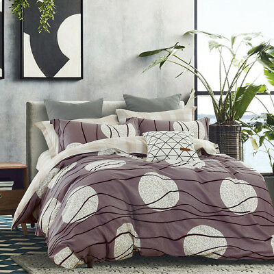 All Size Bed Quilt Duvet Doona Cover Set Natural Cotton Bedding - Moon