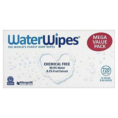 Waterwipes Baby Wipes 60 Pack x 12 (3 Pack)