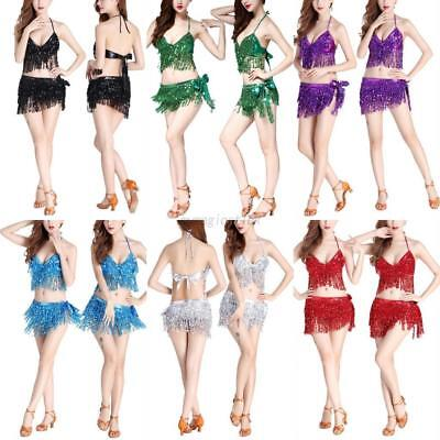 Festival Multicoloured Sequins Coin Crop Bra Top Tribal Belly Dancewear Costumes