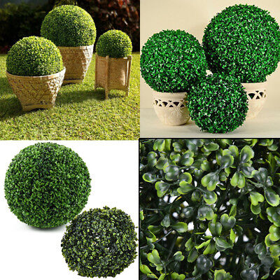 Bush Leaf Ball-shaped Artificial Topiary Buxus Garden Hanging Ball Green New Orb