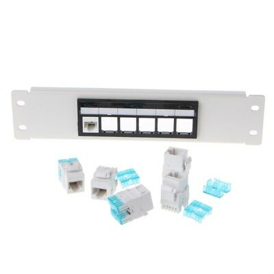 RJ45 CAT6 Patch Panel 6 Ports Frame With RJ45 Keyston Module Jack Connector